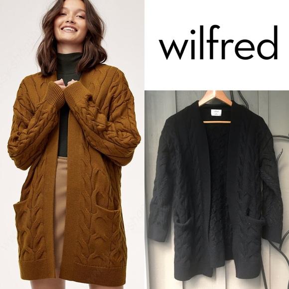 Aritzia Wilfred Charlisa Cardigan in Black *flaw*